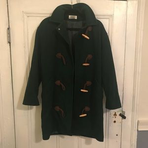 Vintage Dark Green Pea Coat